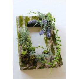 アーティフィシャルフラワー,モスフレーム,多肉植物,グリーン